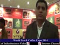 Adarsh Shah, V-TEX FOODS, World Tea & Coffee Expo. 2014