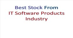 Best Stock From IT Software Products Industry september 2017 issue