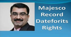 Majesco Record Date for its Rights
