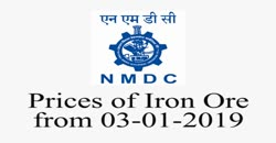 NMDC _ Prices of Iron Ore from 03-01-2019