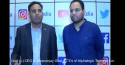Anshu Goel (L) CEO & Dhananjay Goel (CTO) of Alphalogic Techsys Ltd. share company's business model